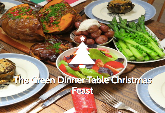 The Green Dinner Table Christmas Feast