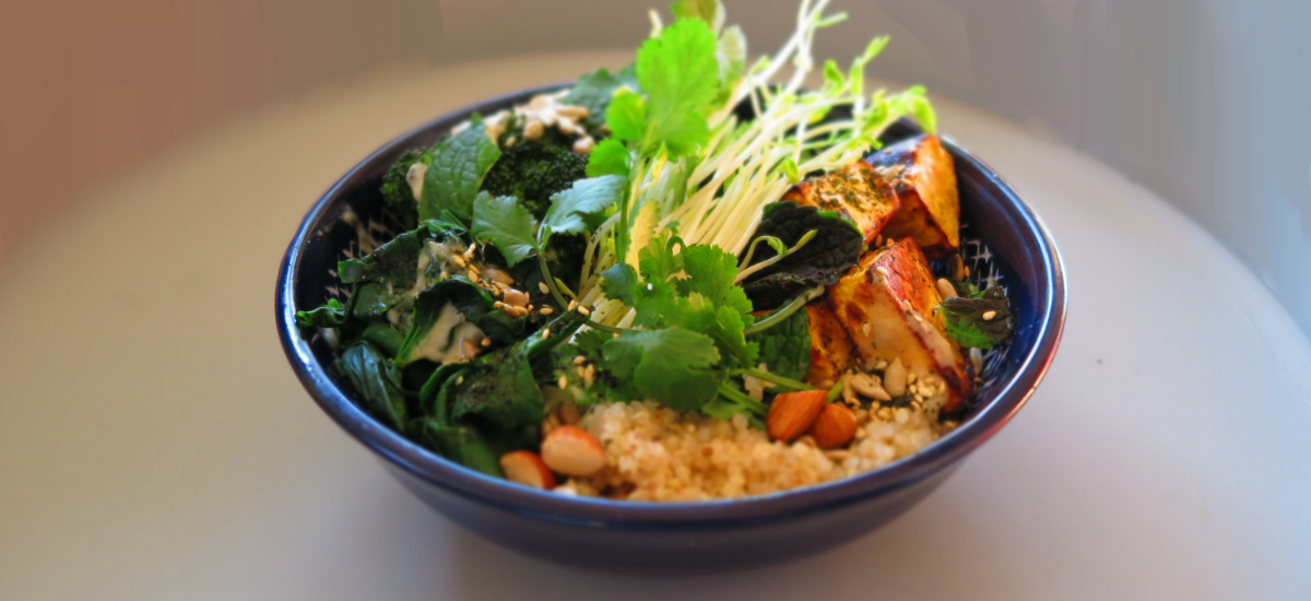 roast pumpkin and quinoa buddha bowl