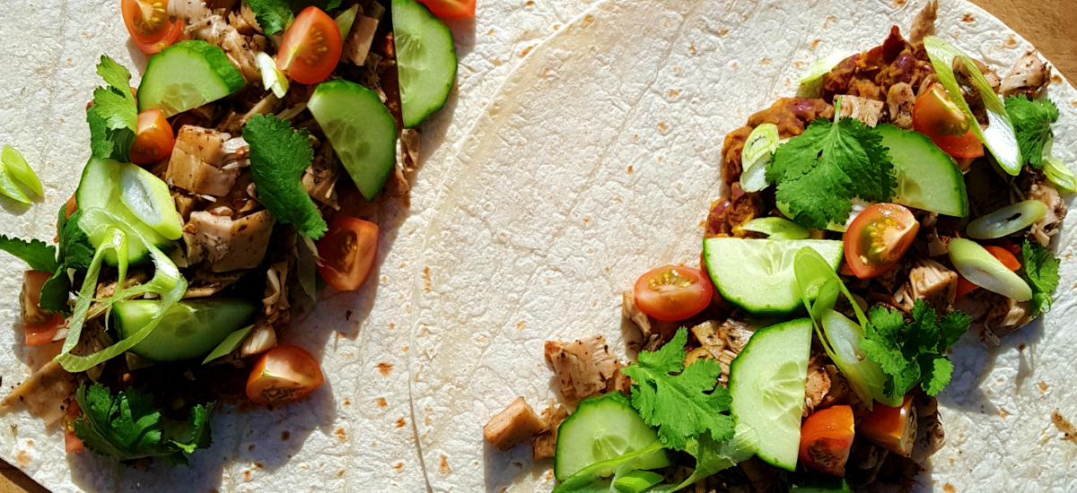 Jamaican jerk jackfruit wraps
